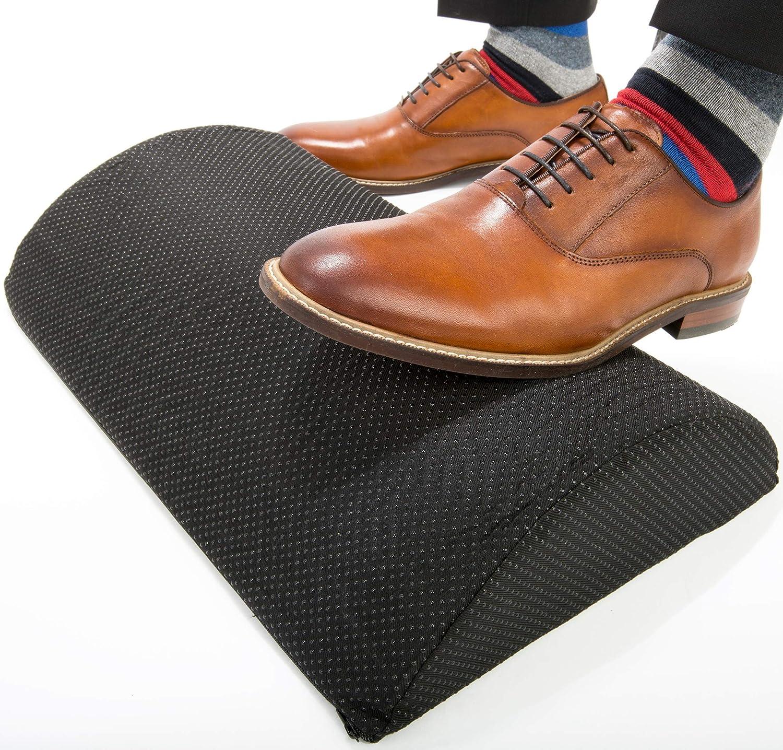 Foot Rest Under Desk for Office or Home Premium Memory Foam Foot Rest Cushion with Adjustable Angle, Non-Slip Foot Stool Under Desk, Ergonomic Low Profile Footrest for Desk, Black