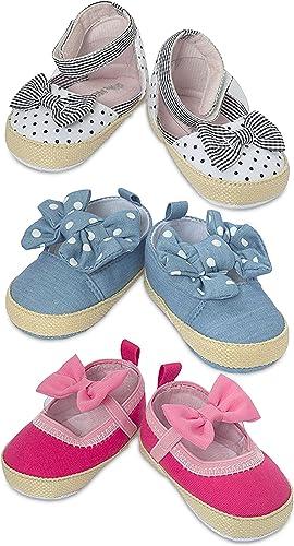 Denim Blue \u0026 Pink Baby Shoes