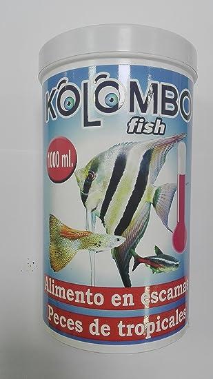 Alimento en escamas para peces tropicales kolombo (Bote 1000 ML): Amazon.es: Productos para mascotas