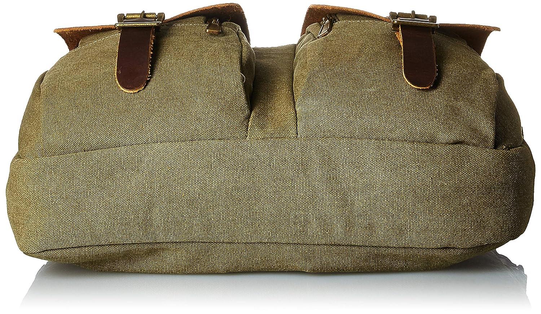 Florsheim Canvas Top Zip Briefcase Olive One Size