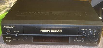 Amazon com: PHILIPS MAGNAVOX 4 HEAD Hi-Fi SmartPicture VCR Plus+ VHS