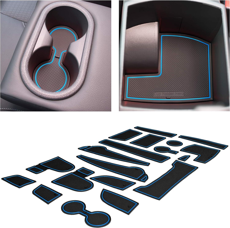 CupHolderHero for Hyundai Kona Accessories 10-10 Premium Custom  Interior Non-Slip Anti Dust Cup Holder Inserts, Center Console Liner Mats,  Door