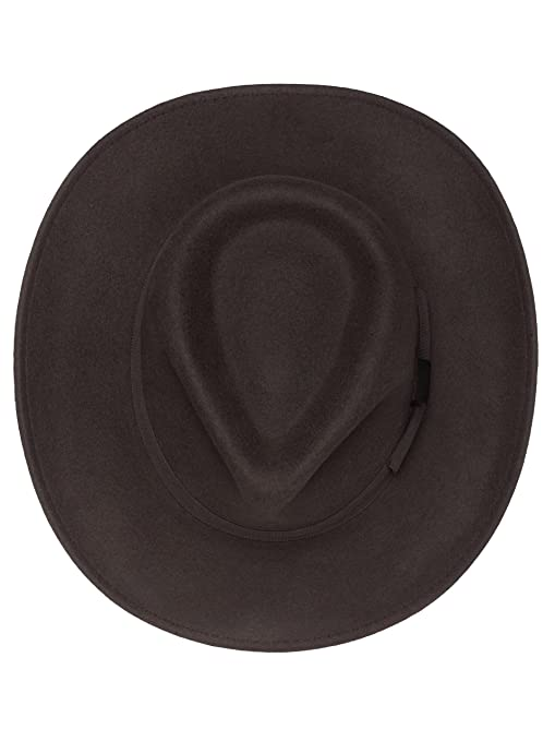898eb322275dd6 Men's Indiana Outback Fedora Hat |Crushable Wool Felt by Silver Canyon at  Amazon Men's Clothing store: