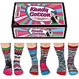 Oddsocks United Confezione di 6calze spaiate da donna, modello: cotone Kandy
