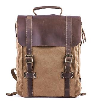 Gootium Leather Canvas Backpack - Vintage