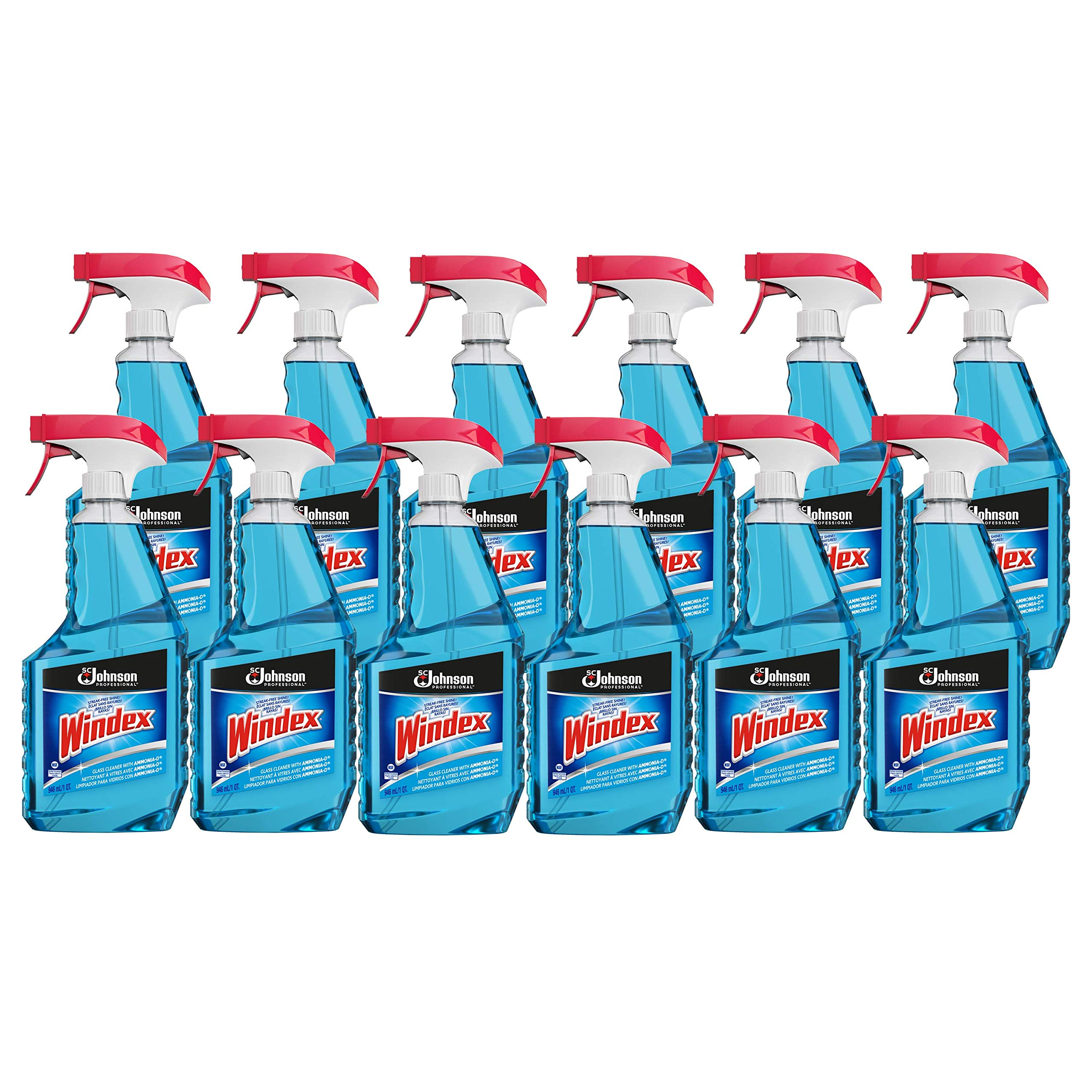 Windex Professional Glass & Surface Cleaner, Capped 32 Oz (Pack Of 12) by SC Johnson Professional