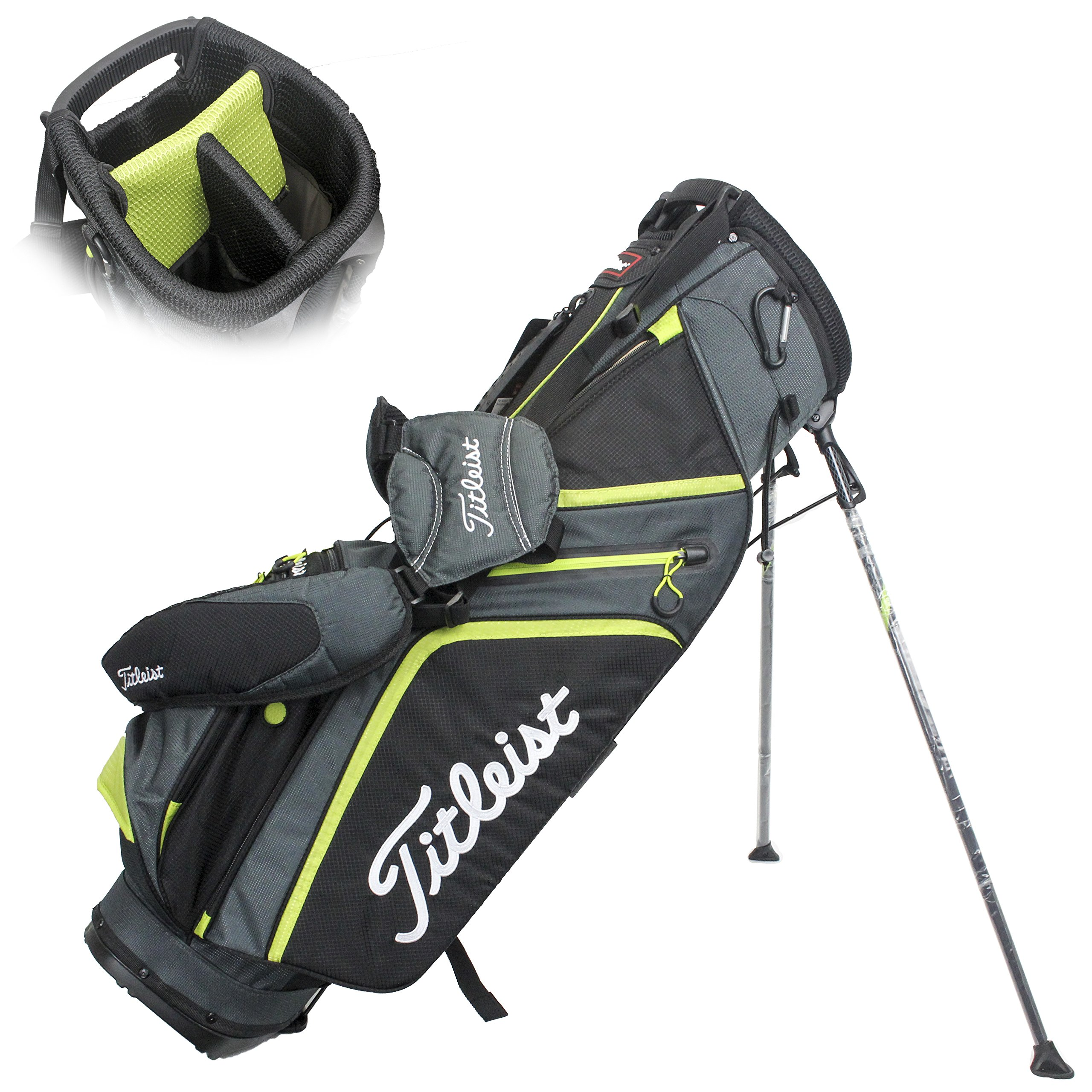 Titleist Ultra Light Stand Bag, Charcoal/Black/Lime by Titleist (Image #1)