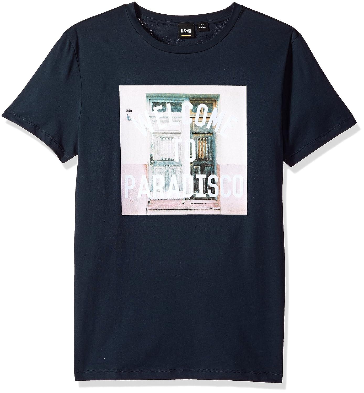 a9fffbe52 Amazon.com: BOSS Orange Men's Welcome to Paradisco Graphic Printed Tee Shirt:  Clothing