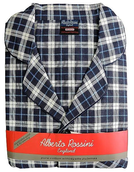 Alberto Rossini Hombre Invierno Winceyette Franela Pijama Algodón Peinado Nighwear Talla M a XXl: Amazon.es: Ropa y accesorios