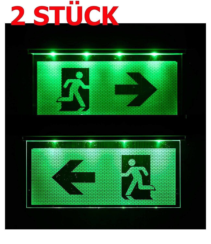 2 pieza Not lá mpara iluminació n de emergencia Exit salida de emergencia ext –  Luz de emergencia ext Flecha hacia la izquierda/derecha Atra