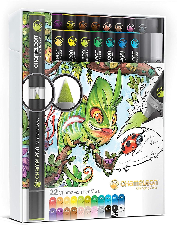 Chameleon Art Products - 22 deluxe rotuladores de alcohol permanentes