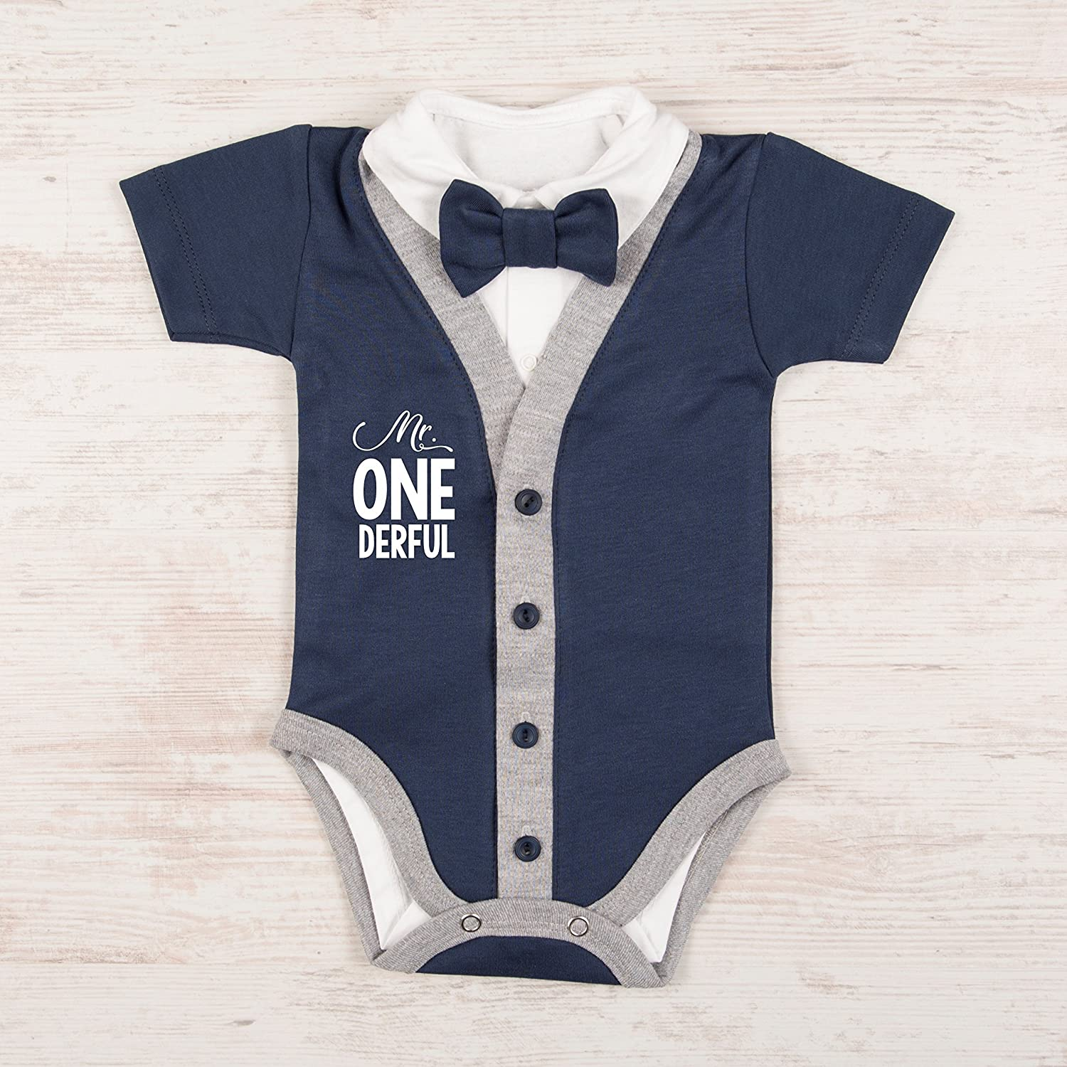 First Birthday Boy Outfit, Short Sleeve, Size 12-18 months