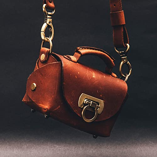 Small and Unique Design. Leather Hand Bag