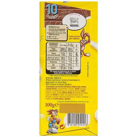 Nesquik Tableta De Chocolate Con Leche - Paquete de 20 x 100 gr - Total: 2 kg: Amazon.es: Alimentación y bebidas