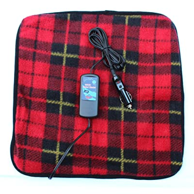 """Car Cozy 2 Mini 12-volt Heated Travel Pad (Red Plaid, 16""""x 16"""") with Patented Safety Timer by Trillium Worldwide: Automotive"""