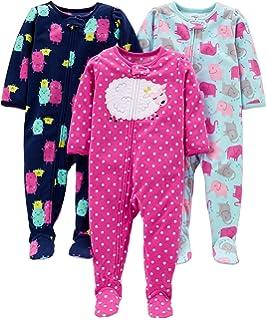 b12e358d1ec0 Simple Joys by Carter s Girls  - Conjunto de 3 Pijama de Forro Polar ...