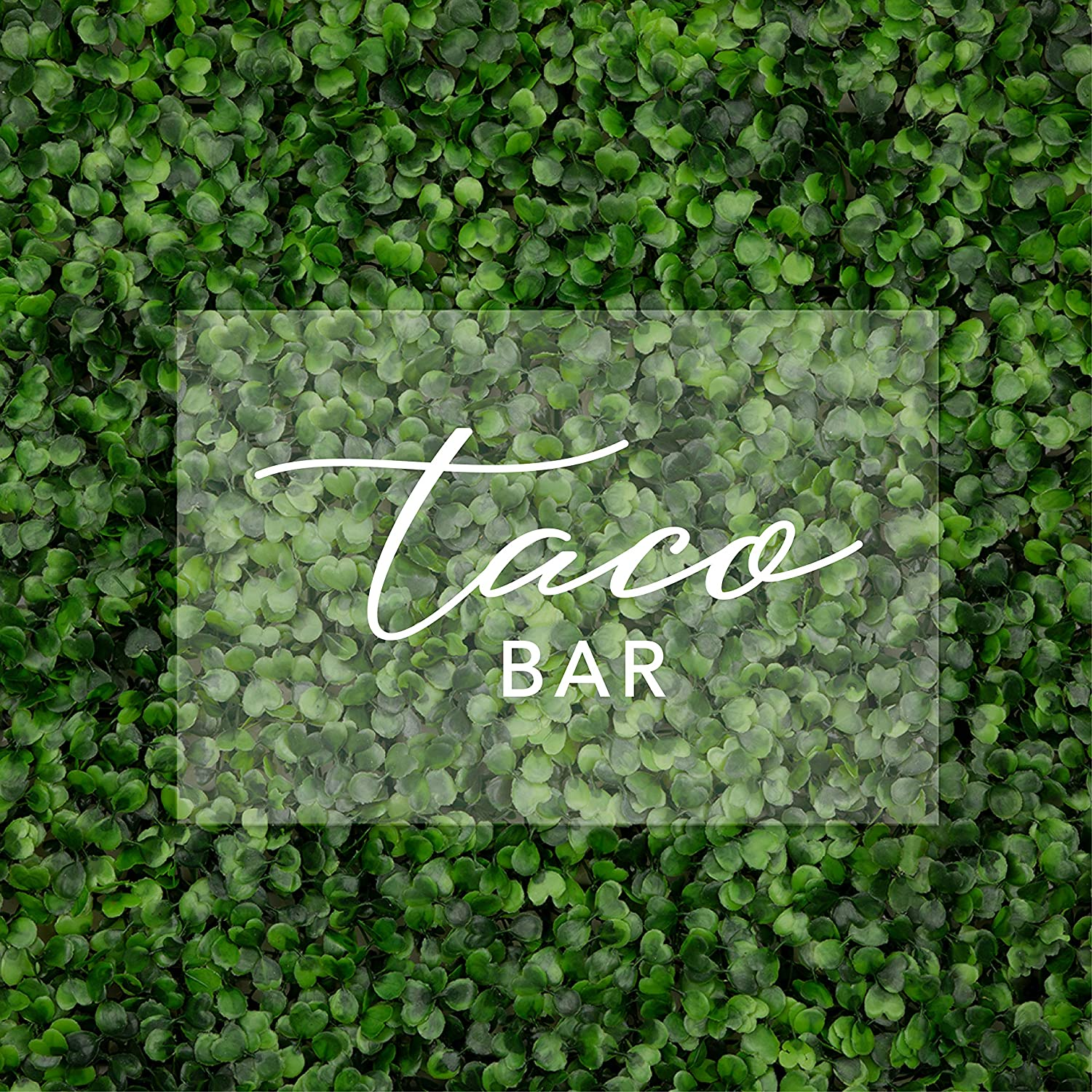 Andaz Press Taco Bar Acrylic Sign, 7.5 x 11 Inch, Stand Included, Signage for Wedding, Bridal Shower, Bachelorette, Engagement, Birthday, Baby Shower, Fiesta, Cinco De Mayo Taco Food Bar Station