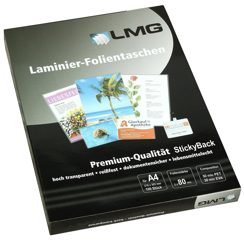 /80S Pouches A4 216/X 303/mm 100/pezzi 2/X 80/Mic con retro adesivo LMG lmga4/