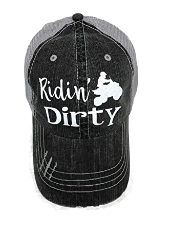 Image Unavailable. Image not available for. Color  Spirit Caps White  Glitter Ridin  Dirty 4 Wheeler Distressed Look ... 7bcf43f15e83