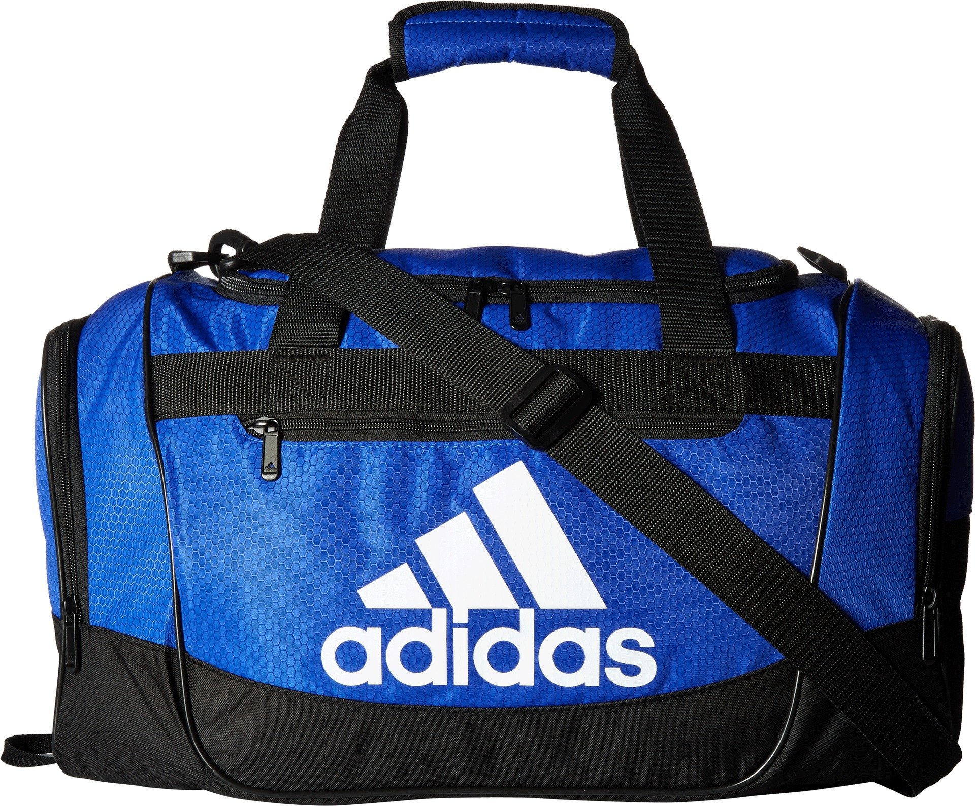 adidas Defender III medium duffel Bag, Blue/Black/White, One Size