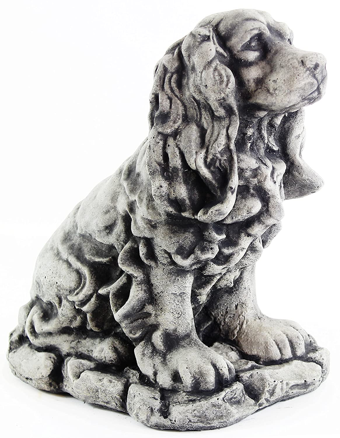 Dog Statue Cocker Spaniel Garden Statue Puppy Outdoor Cement Dog Figure Doggy Sculpture