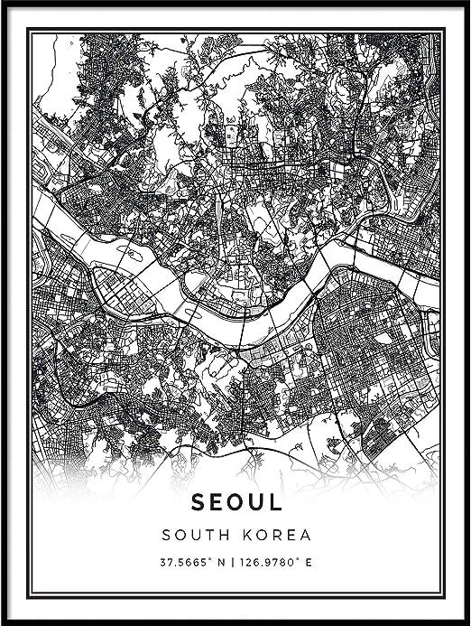 Art Print Home Decor Wall Art Poster Map Of California Usa E