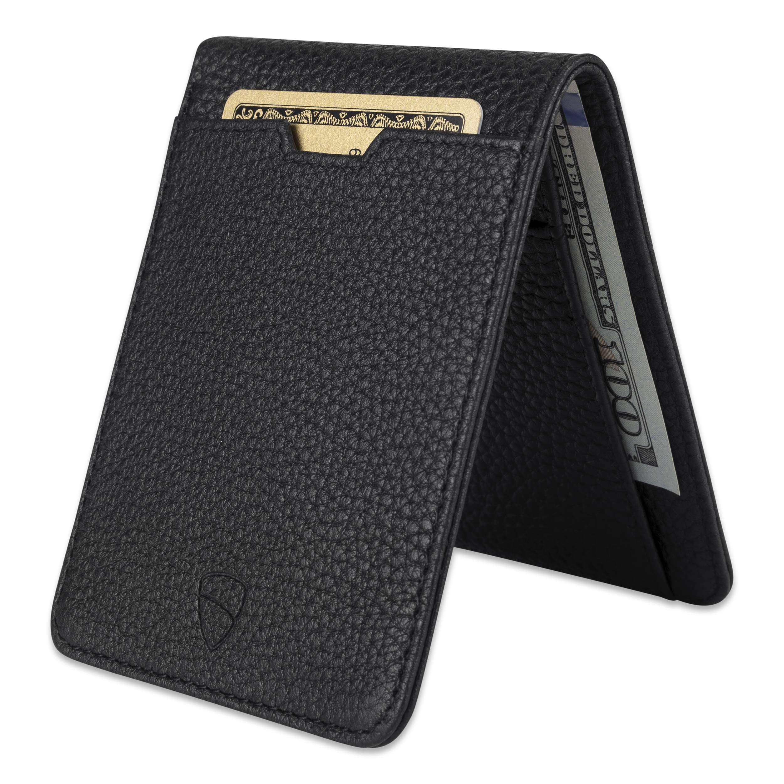 Vaultskin MANHATTAN Slim Bifold Wallet with RFID Protection for Cards and Cash (Matt Black) by Vaultskin