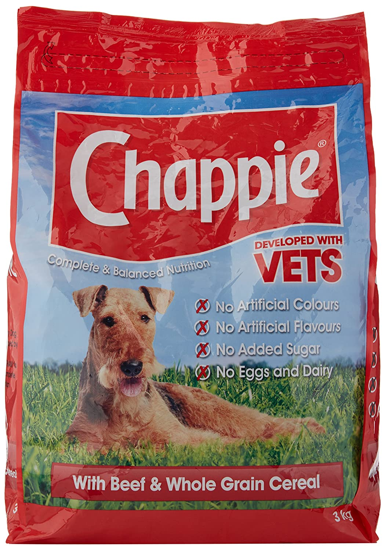 Chappie with beef & wholegrain cereal 3kg Mars