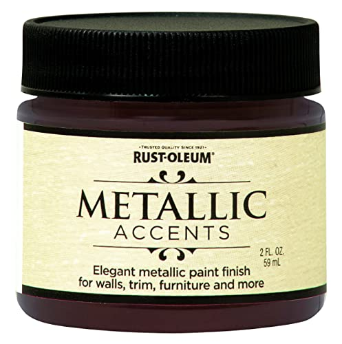Rust-Oleum Metallic Accents 255330 Decorative 2-Ounce Trail Size Water Based One Part Metallic Finish Paint, Bronze Medal