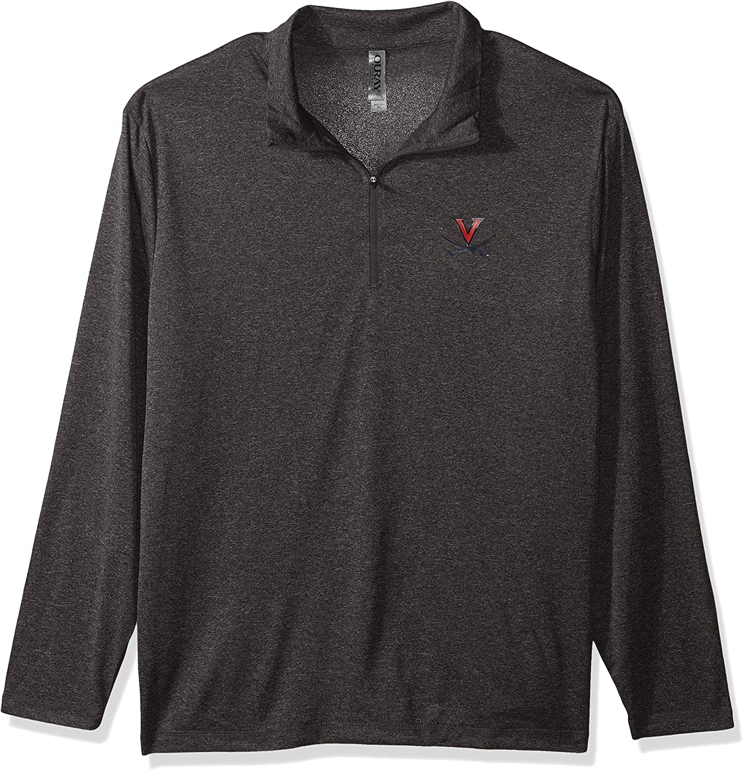 Athletic Heather Ouray Sportswear NCAA Virginia Cavaliers Mens Confluence 1//4 Zip Top Large