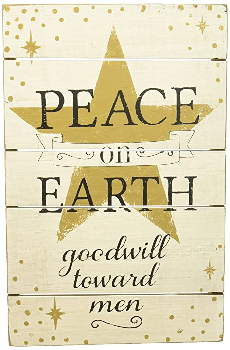 Amazon.com: Demdaco 2020160509 Peace on Earth Wall Art: Home & Kitchen