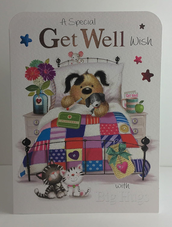 Jonny Javelin Special Get Well Wish Big Hugs Card