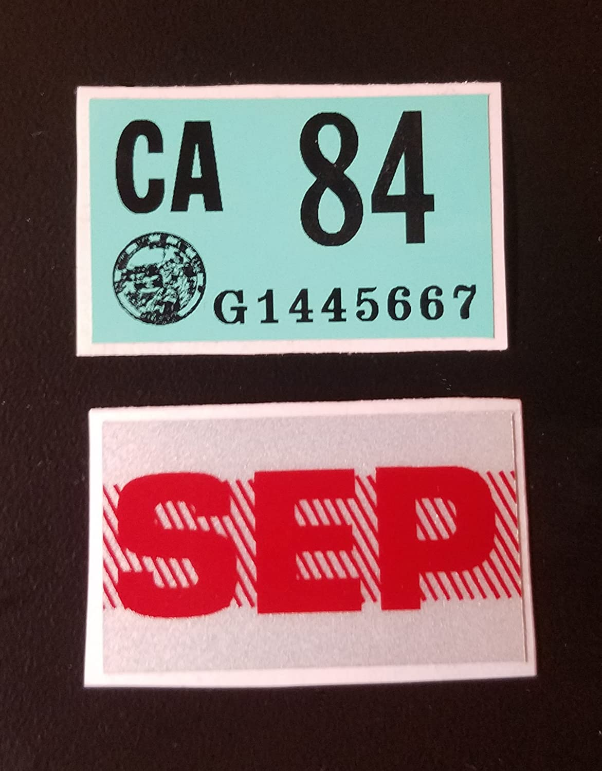 Metal Stamped License Plate KNI 667 Knight Rider