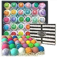 Bulk Bath Bombs 30 Pc Gift Set by Purelis. Ultra Luxury Bath Balls Individually...
