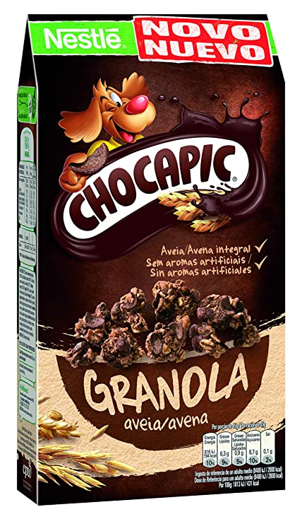Chocapic Cereales Granola Copos de Avena Integral y Trigo con Chocolate - 320 gr: Amazon.es: Alimentación y bebidas