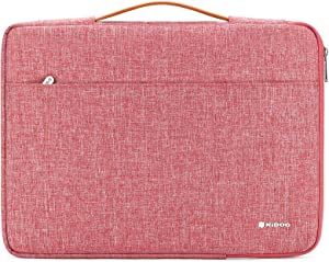 """NIDOO 14 inch Laptop Sleeve case Notebook Bag Protective Carrying Handbag for 15"""" Surface Laptop 3/14"""" Chromebook S330 / ThinkPad A485 E485 E490 T480s / HP ProBook 645 G4 / Acer Swift 5 7, Red"""