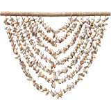 Creative Co-Op Handmade Shell Wall Hanging with Wood Hanger Décor, Natural