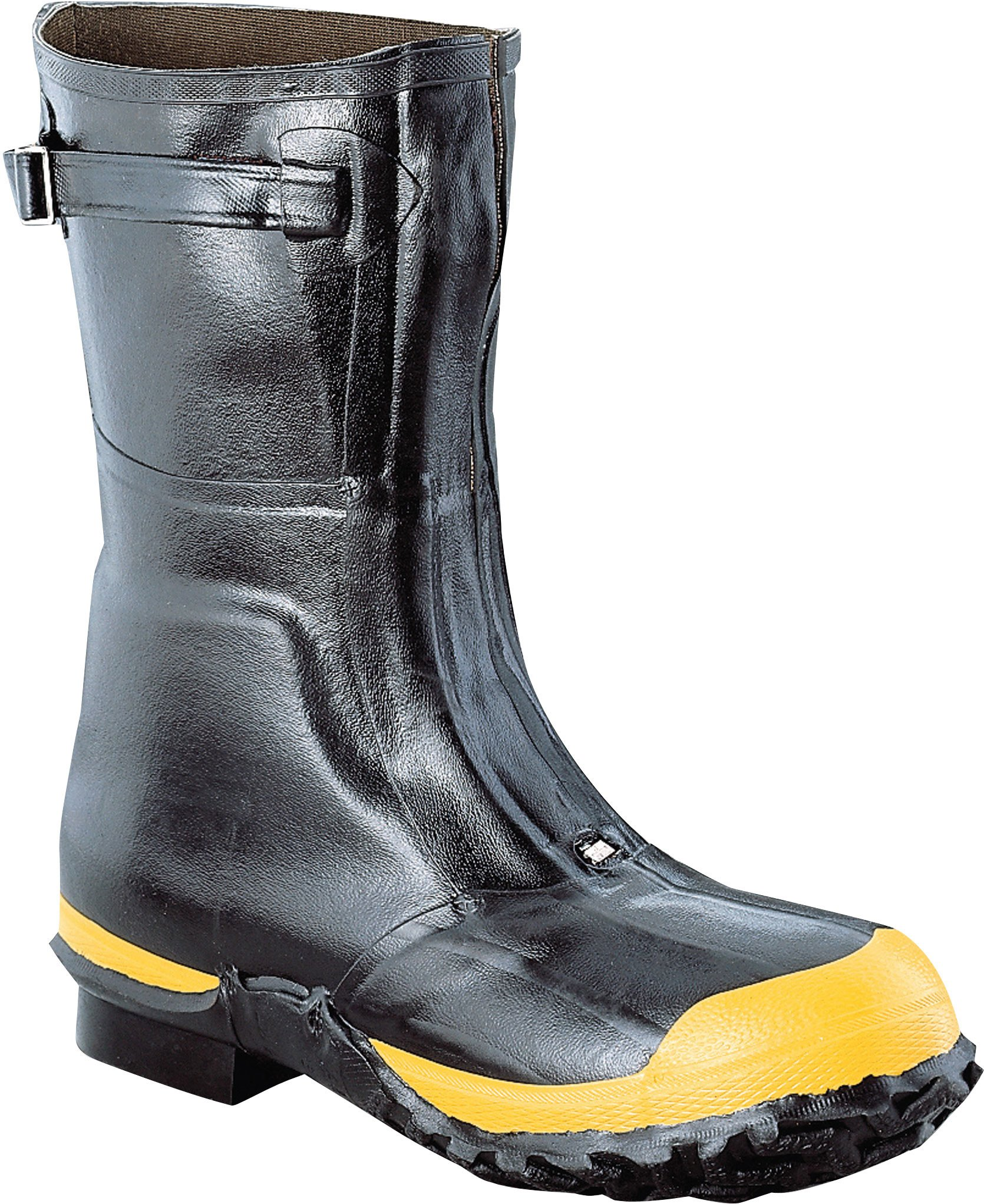 Ranger Lineman's Zip Pac 12'' Heavy-Duty Insulated Rubber Men's Work Boots with Steel Toe & Steel Midsole, Black & Yellow (21622) by Honeywell