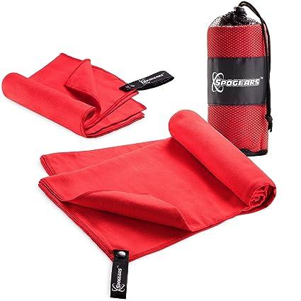 Spogears - Juego de toallas de microfibra compactas y ligeras, incluye una toalla de campamento