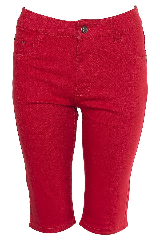 Noroze Womens Cotton Combat Chino Capri Cargo Shorts