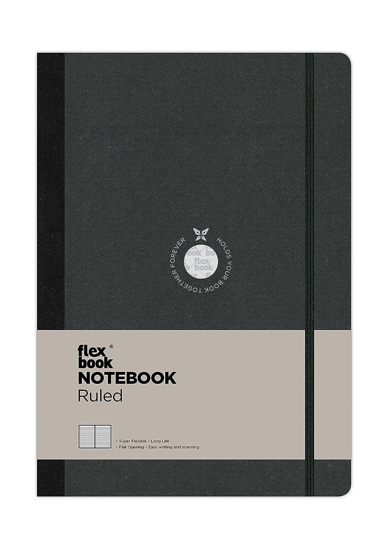 negro Flexbook port/átil patentado v/ínculo flexibles con 17x24cm el/ástica alineado