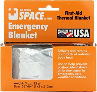"""product image for Grabber Outdoors The Original Space Brand Emergency Survival Blanket, Silver, 3oz. 56"""" X 84"""""""