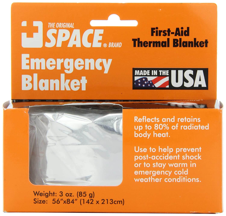 Grabber Outdoors The Original Space Brand Emergency Survival Blanket, Silver, 3oz. 56' X 84' 3oz. 56 X 84 9914EBSS