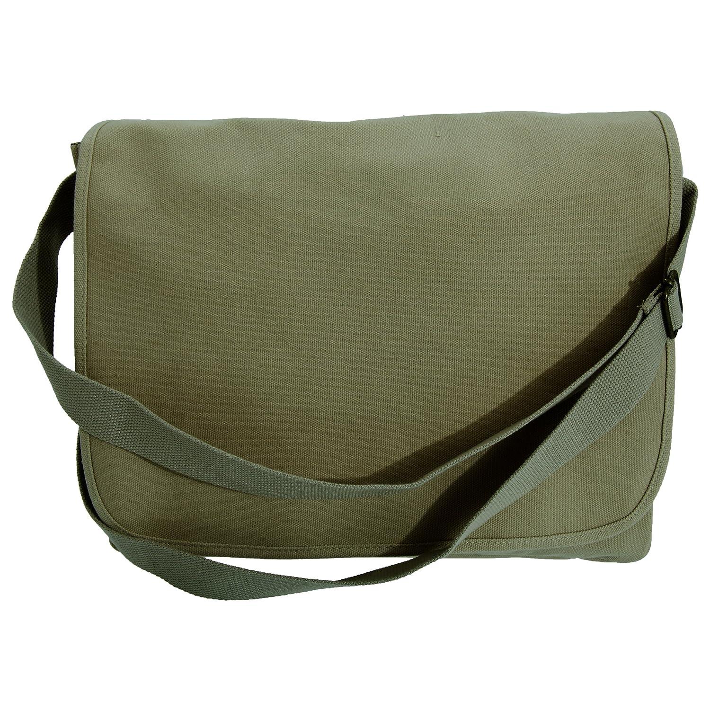 Bagbase Classic Shoulder Strap Canvas Messenger Bag (One Size) (Black) UTBC3407_1