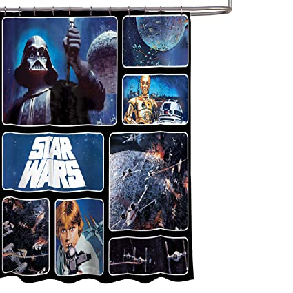Amazon Star Wars Classic Saga 72 X Fabric Shower Curtain