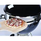 Wohlers Pizzaring für Kugelgrill 57 cm |Made in Germany | Gratis REZEPTHEFT | 1 mm Starkes Edelstahl | Rotisserie | Pizza Selber Machen | Premium 2018
