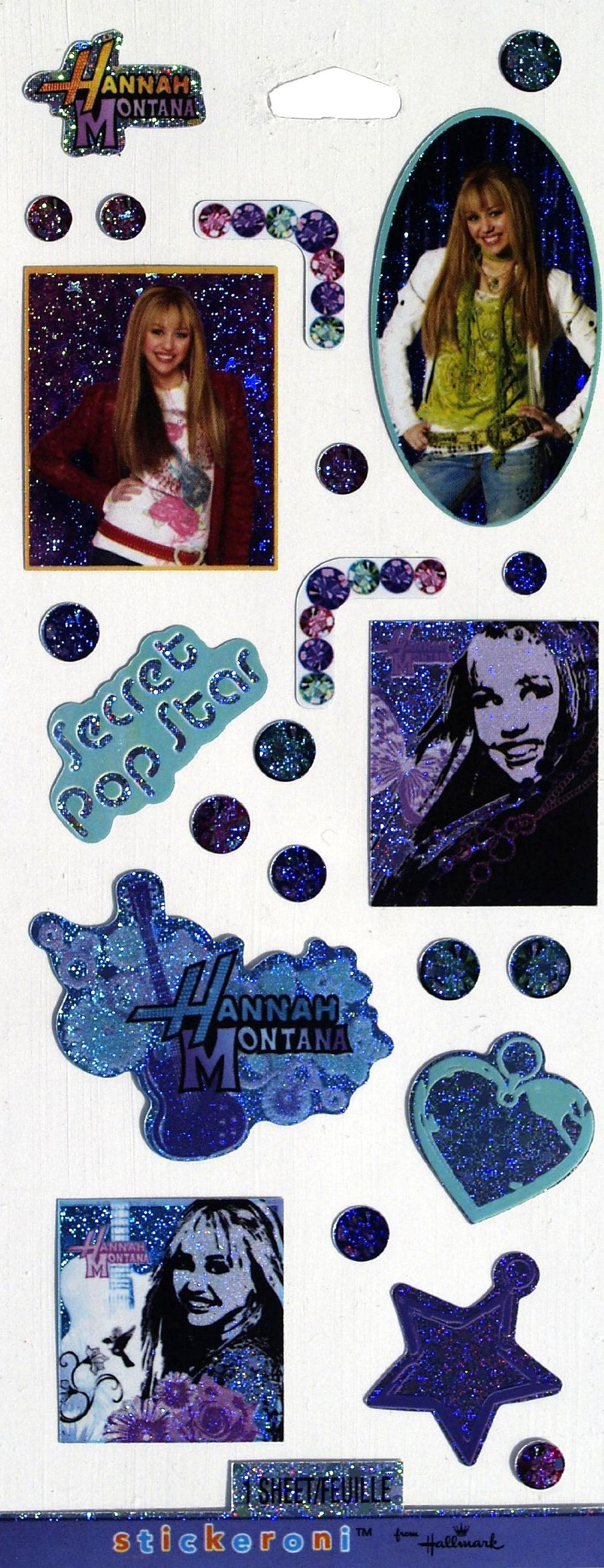 Hannah Montana Sticker Sheet