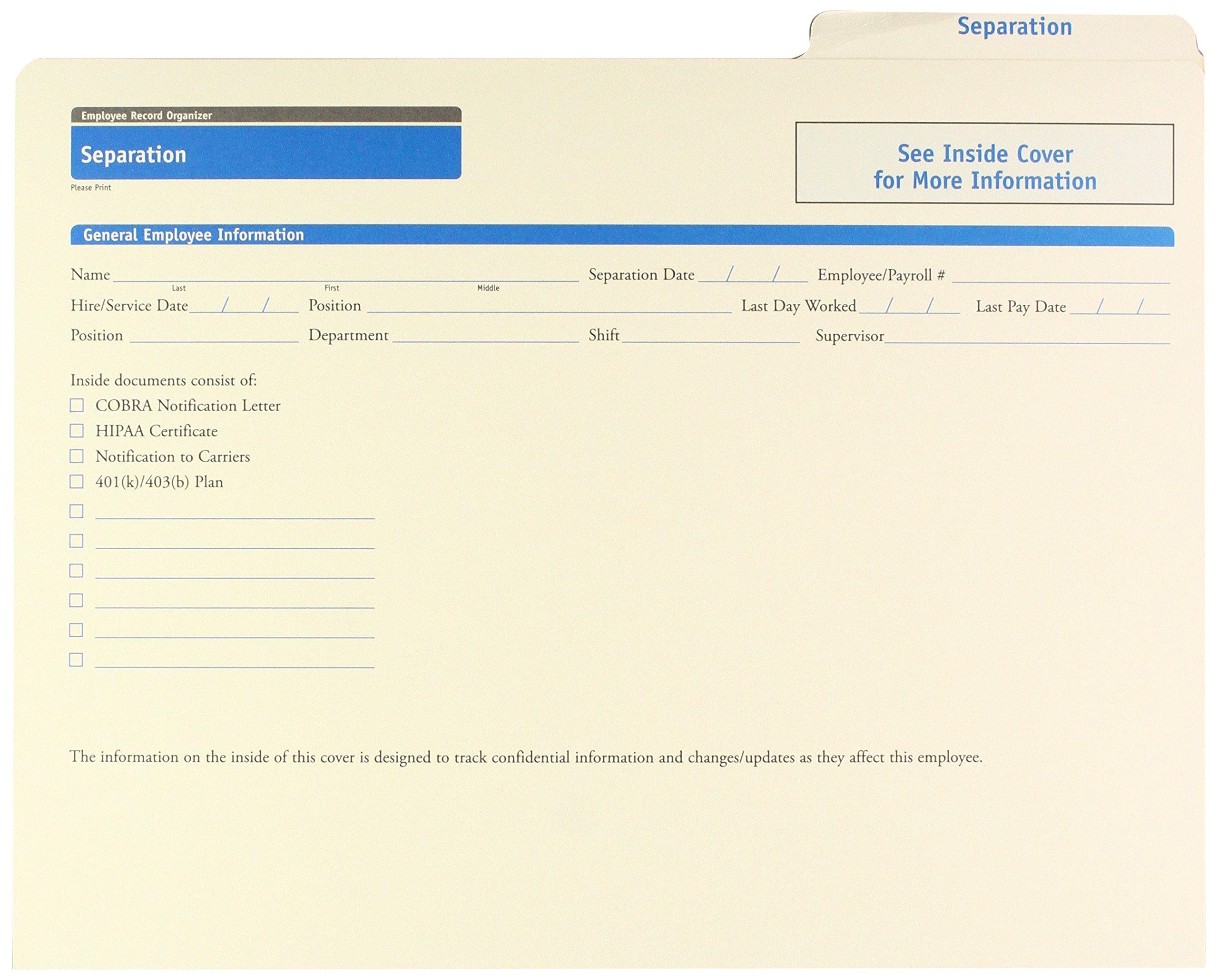 ComplyRight Separation Folder 25K
