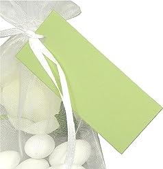EinsSein 50x Geschenkanhänger Basic hellgrün Geschenkkärtchen Tischkarten Hochzeit Party