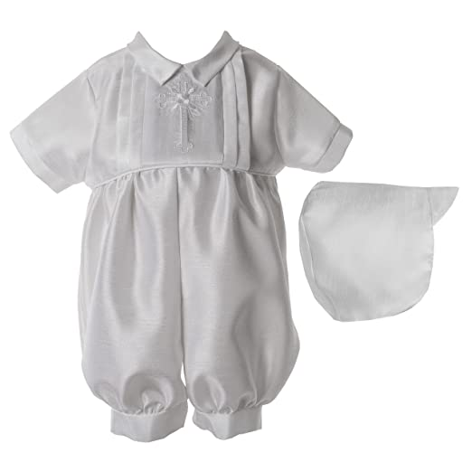 0333be441bc Amazon.com  Lauren Madison Baby Boys  Christening Baptism Shantung 2 ...
